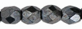 Firepolish 3mm 4565 Hematite 100 Stück