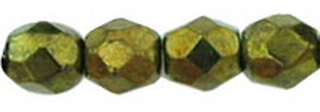 Firepolish 3mm 4495 Metallic Green 100 Stück