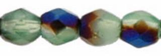 Firepolish 3mm 5201BR Turquoise Iris Blue 100 Stüc