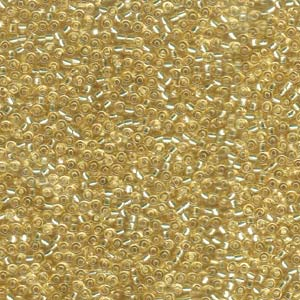 Seed  Bead  Miyuki  0002 Silver Lines Pale Gold 11/0 10gr.