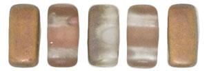 CzechMates Bricks 27171   Matte - Apollo Gold 3/6mm 6gr