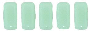 CzechMates Bricks 63100  Opaque Pale Jade 3/6mm 6gr