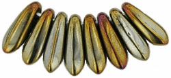 Czech-Beads-Dagger Iris Brown 3x10mm 30St.