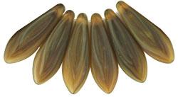 Czech-Beads-Dagger 0546 Matte HurriCane Gl. Sienna 5/16 20 St.