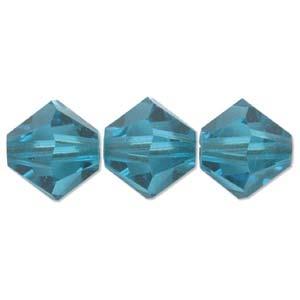 Bicone  4mm Blue Zircon 1Stück