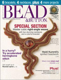 Bead&Button - Magazin Ausgabe Sept/Okt. 2011 Einzelheft.