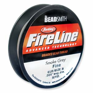 Fireline Thread 06 LB Smoke Grey 1Spule 50 YRD
