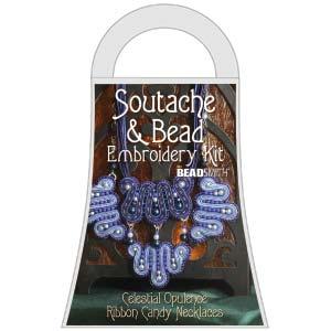 SOUTACHE CELEST. OPULENCE RIBBON CANDY NECKLACE KIT 50% Sale