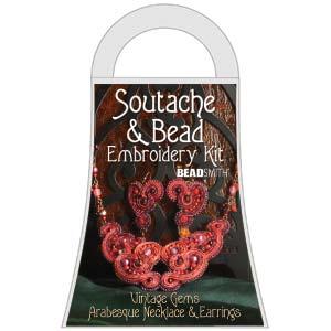 SOUTACHE EARTHLY TREASURE ARAB NECKLACE/EARRING KIT 50%Sale