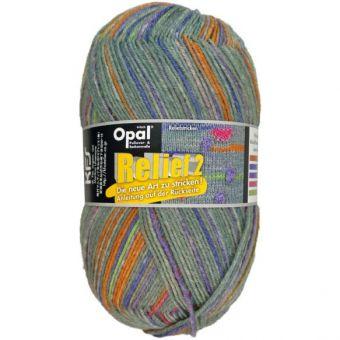 Opal Relif 2  Sockenwolle  100gr Knäul