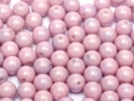 Czech Rund Beads  3mm 14494 Chalk White Lila Luster