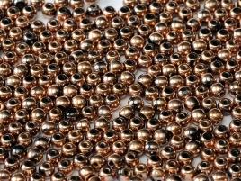 Czech Rund Beads 3mm 27100  Capri Gold Full