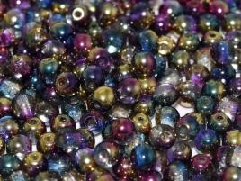 Czech Rund Beads  98001 Crystal Sunny Magic Royal 4mm 100St.