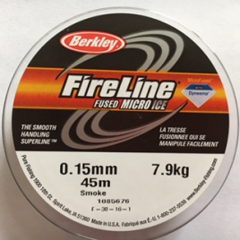 Fireline Thread 08 LB Smoke Grey 1Spule 50 YRD